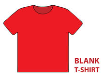 Blank t-shirt Royalty Free Stock Image