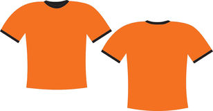 Blank T-shirt. Orange t-shirt on white background Stock Images