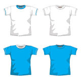 Blank T-SHIRT blue. T-Shirt Layout for presentation Royalty Free Stock Images