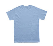 Blank T Shirt color light blue template. On white background royalty free stock image