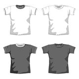 Blank t-shirt gray. T-shirt layout for presentation Royalty Free Stock Photography