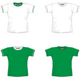 Blank T-SHIRT Green. T-Shirt Layout for presentation - vector Stock Photo