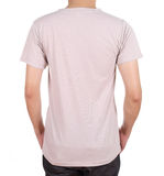 Blank t-shirt on man (back side) Stock Image