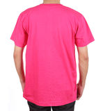 Blank t-shirt on man (back side) Royalty Free Stock Photography