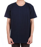 Blank t-shirt on man Royalty Free Stock Image