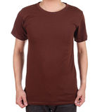 Blank t-shirt on man Stock Photography