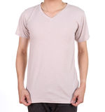 Blank t-shirt on man Royalty Free Stock Photography
