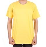 Blank t-shirt on man Royalty Free Stock Photos