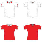Blank t-shirt red. T-shirt layout for presentation - vector Royalty Free Stock Photography