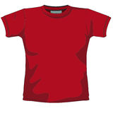 Blank t-shirt red Royalty Free Stock Photo
