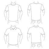 Blank t shirt set Stock Photos