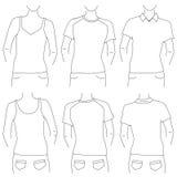 Blank t shirt set Stock Photos