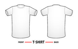 Blank T-Shirt template Stock Images
