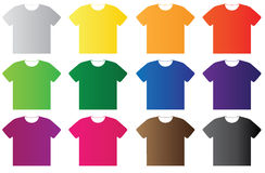 Blank t-shirt template Stock Image