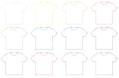 Blank t-shirt template Stock Photography