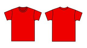 Blank t-shirt template Royalty Free Stock Image