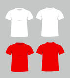Blank t-shirt template Royalty Free Stock Photos