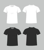 Blank t-shirt template. Front and back Royalty Free Stock Photos