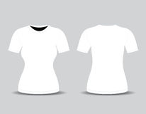 Blank t-shirt template (front and back views) Royalty Free Stock Images