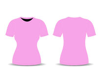 Blank t-shirt template (front and back views) Stock Photo