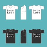 Blank T shirt template Royalty Free Stock Images