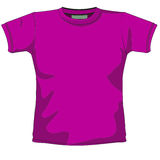Blank t-shirt violet. T-shirt layout for presentation - vector Stock Photos