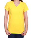 Blank t-shirt on woman Royalty Free Stock Image