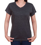 Blank t-shirt on woman Stock Photo
