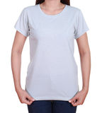 Blank t-shirt on woman Stock Image