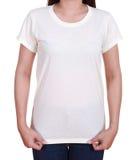 Blank t-shirt on woman Stock Image