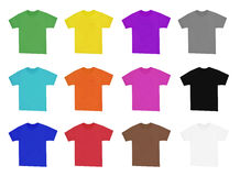 Blank t-shirts Stock Photos