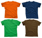 Blank t-shirts 4 Stock Images