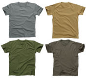 Blank t-shirts 5 royalty free stock images