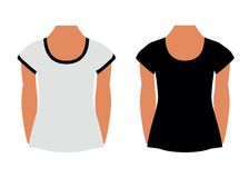 Blank T-shirts Royalty Free Stock Image