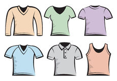 Blank t-shirts template Royalty Free Stock Photography