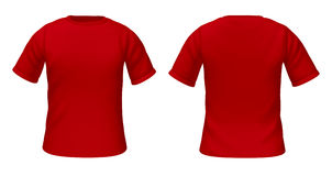 Blank t-shirts template with red color Stock Photo