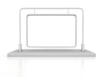 Blank Table Info Flag On White Background Royalty Free Stock Photo