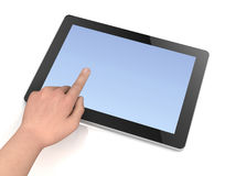 Blank tablet computer concept   3d illustration Royalty Free Stock Images