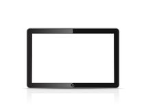 Blank tablet. Computer, isolated on white
