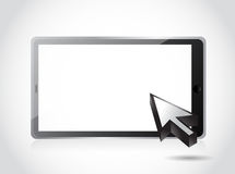 Blank tablet and cursor illustration design Stock Photos