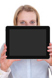Blank tablet display Royalty Free Stock Photo