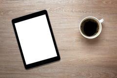 Blank tablet on office desk Stock Photo