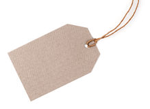Blank tag. Isolated on white Royalty Free Stock Photography