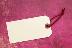 Blank tag. On wrapping paper Royalty Free Stock Photos