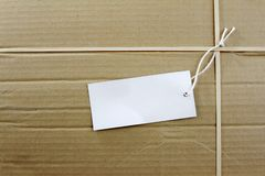 Blank tag Stock Image
