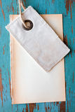 Blank tag. Old blank tag and paper Royalty Free Stock Photo