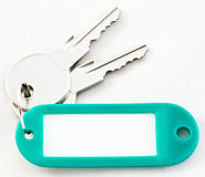 Blank Tag And Keys Stock Photography
