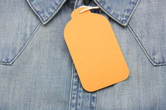 Blank Tag on jeans Royalty Free Stock Images