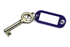 Blank tag and a key Stock Images
