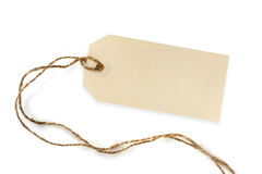 Blank Tag with String Stock Image